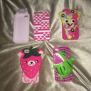 FUN lot of 5 cases for IPhone 5, 5S, or SE 🍕